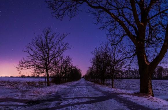 Noční obloha na Hané